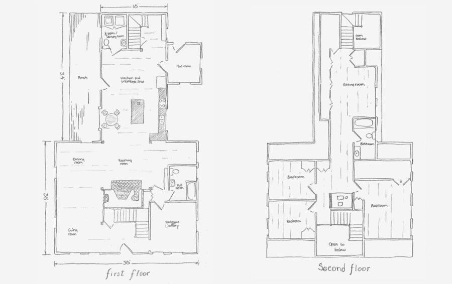 gambrel floor plans
