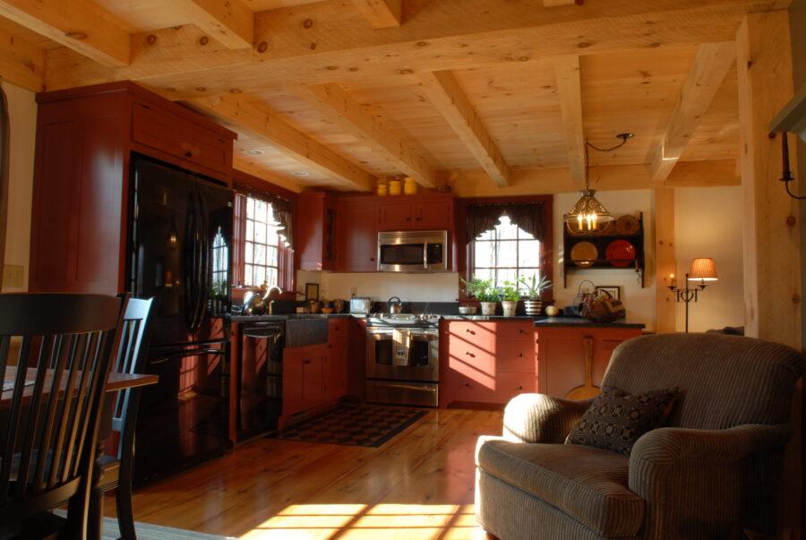 Beautiful sunlit country kitchen.